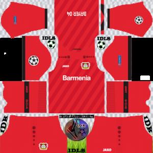 Bayer Leverkusen UCL home kit 2019-2020 dream league soccer