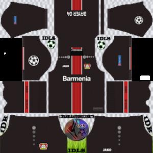 Bayer Leverkusen UCL away kit 2019-2020 dream league soccer