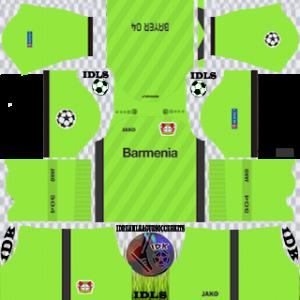 Bayer Leverkusen UCL gk home kit 2019-2020 dream league soccer