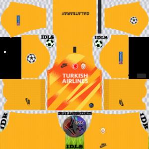 Galatasaray ucl gk away kit 2019-2020 dream league soccer