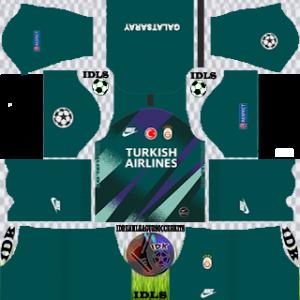 Galatasaray ucl gk third kit 2019-2020 dream league soccer