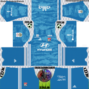 Olympique Lyonnais gk home kit 2019-2020 dream league soccer