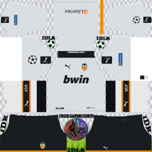 Valencia UCL home kit 2019-2020 dream league soccer