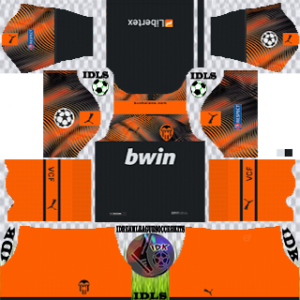 Valencia UCL away kit 2019-2020 dream league soccer