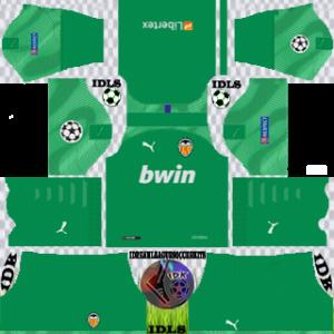 Valencia UCL gk home kit 2019-2020 dream league soccer