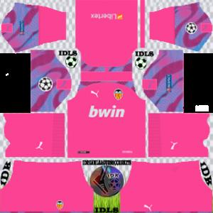 Valencia UCL gk away kit 2019-2020 dream league soccer
