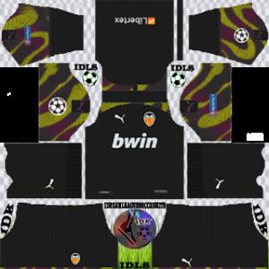 Valencia UCL gk third kit 2019-2020 dream league soccer