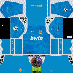 Valencia UCL third kit 2019-2020 dream league soccer