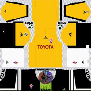 Fiorentina Fc gk away kit 2018-2019 dream league soccer