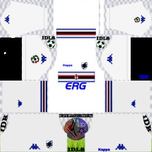 Sampdoria Fc away kit 2018-2019 dream league soccer