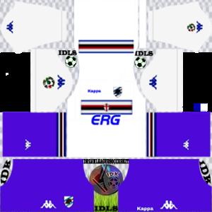 Sampdoria Fc gk away kit 2018-2019 dream league soccer
