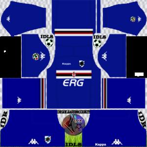 Sampdoria Fc third kit 2018-2019 dream league soccer