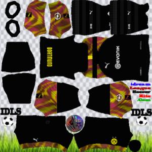 Borussia Dortmund gk away kit 2020 dream league soccer