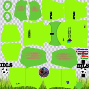 Portsmouth FC gk home kit 2020 dream league soccer