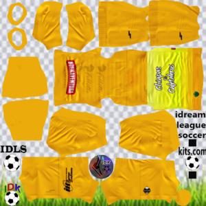 Cafetaleros Chiapas gk away kit 2020 dream league soccer