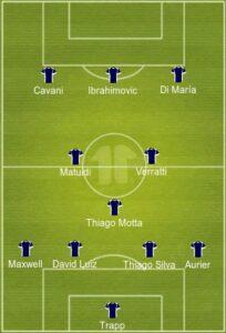 PSG uefa formation