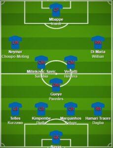 PSG pes formation