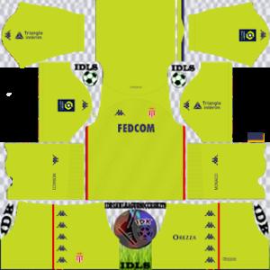AS Monaco dls gk home kit 2021