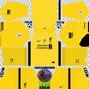Liverpool gk away kit 2021 dls 2019