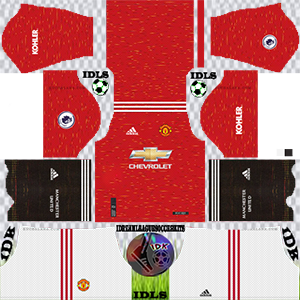 Manchester United home kit 2021 dls 2019