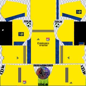 Olympique Lyonnais dls gk third kit 2021