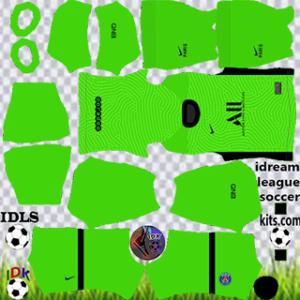 PSG kit dls 2021 gk away