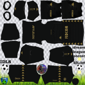 AS Monaco kit dls 2021 away
