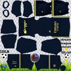 Olympique Lyonnais kit dls 2021 third