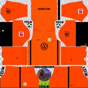 Wolfsburg fc dls gk home kit 2021
