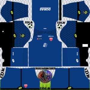 Dijon FC kit dls 2021 gk home