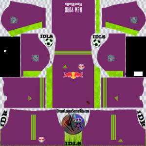 New York Red Bulls DLS Kit 2021 gk away For DLS19