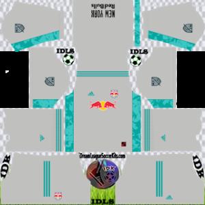 New York Red Bulls DLS Kit 2021 gk home For DLS19