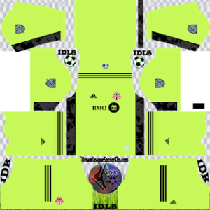 Toronto FC DLS Kit 2021 gk Home For DLS19