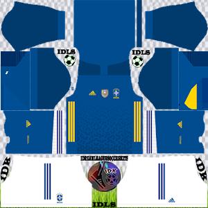 Brazil DLS Kit 2021 away For DLS19