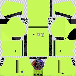 Brazil DLS Kit 2021 gk away For DLS19