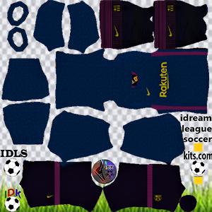 Barcelona kit dls 2022 gk away