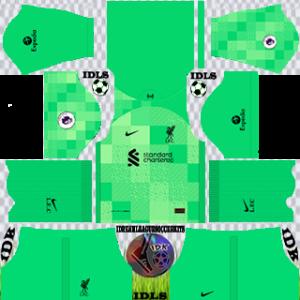 Liverpool dls kit 2022 gk home