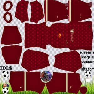 Liverpool kit dls 2022 home (Plain)