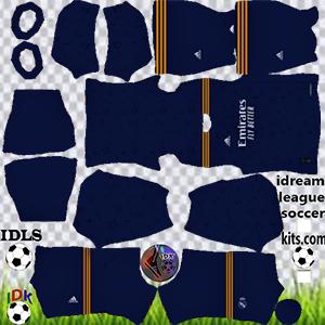 Kit do Real Madrid dls 2022 de distância