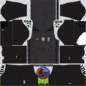 Brazil Copa America kit dls 2021 gk home