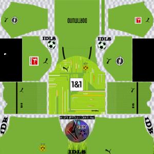 Borussia Dortmund dls kit 2022 gk de distância