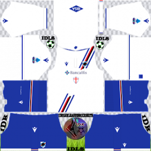 Sampdoria FC dls kit 2022 away