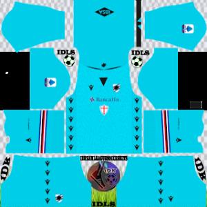 Sampdoria FC dls kit 2022 gk third