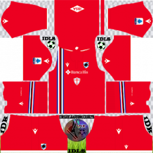 Sampdoria FC dls kit 2022 third