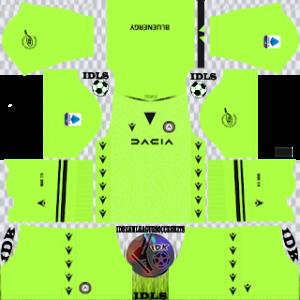 Udinese dls kit 2022 gk third
